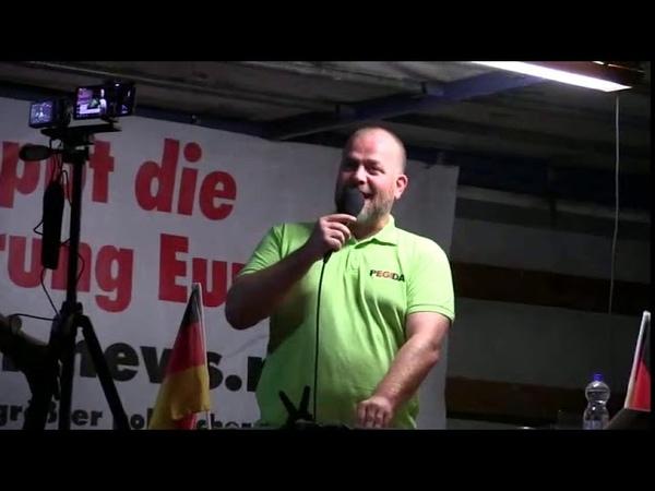 PEGIDA Dresden 17.09.2018 Siegfried Daebritz. Eine sehr humoristische aber ernste Rede.
