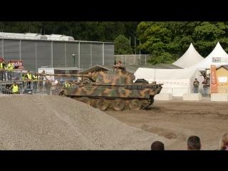 старые танки Panzer I + Panzer IV + Panther Ausf A в полигоне - Stahl Auf Der Heide 2017 [720p]