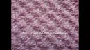 Ажурный узор Каракуль вязание спицами.