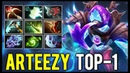 Arteezy 9 Slotted Arc Warden - Favourite Hero of Top-1 MMR