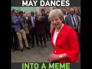 When we saw UK Prime Minister Theresa May's creepy AF dance moves on her recent visit to Africa, we only had one thought!