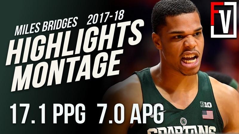 Miles Bridges MSU Sophomore Season Highlights Montage | 17.1 PPG, 7.0 RPG, Vince Carter 2.0!
