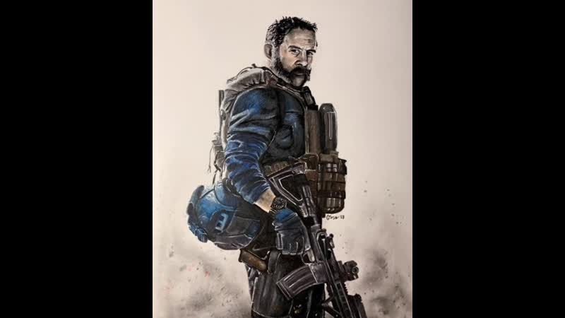 "Bravo Six going dark"" Cpt Price animated pencil drawing ig giove adepto Black Ops 4"