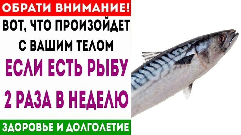 Вот, что сделает с Вашим телом 200 гр рыбы каждый день! 🌿 Здоровье