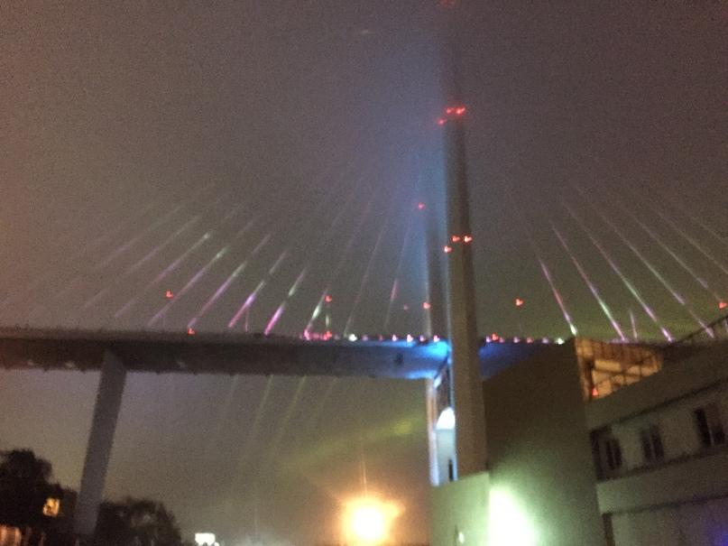 Отчет за 30.06.2018 Подсветка моста и туман