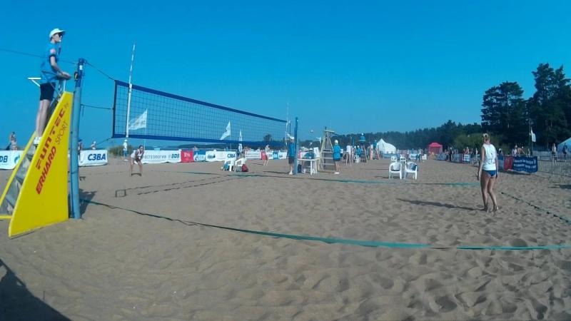 Beach volley Russia Solnechnoe 2018 W 01 Frolova-Scheglova and Zazhigina-Yakovleva