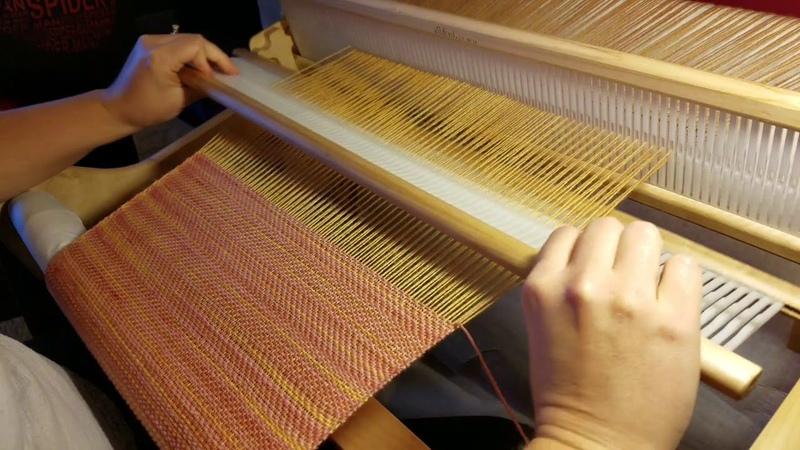 Weaving 2/1 twill on Rigid Heddle Loom