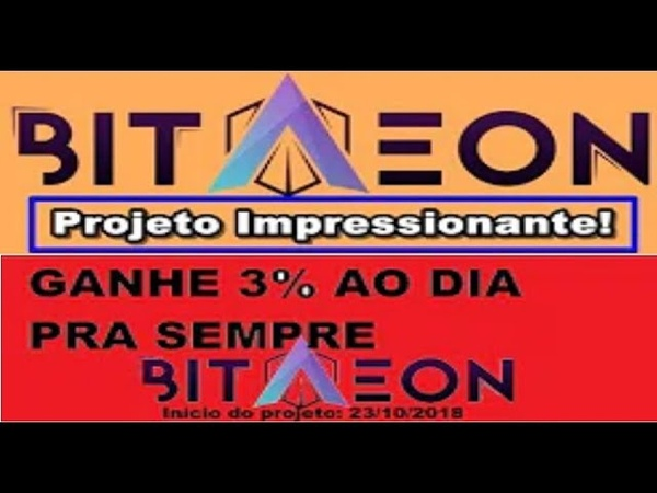 BitAEON INVESTIMENTOS Pagando 3% ao dia Saque de R$400 Como ganhar at 0.05 btc free