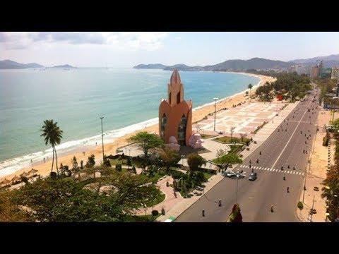 208 Вьетнам Нячанг Виды города из автобуса Центральная площадь ЛОТОС Nha Trang Central Square LOTOS