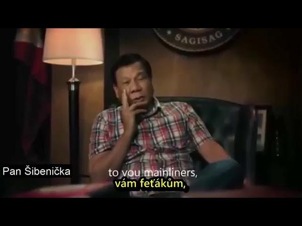 Rodrigo Duterte je filipínský právník a politik Vám želá veselé vianoce
