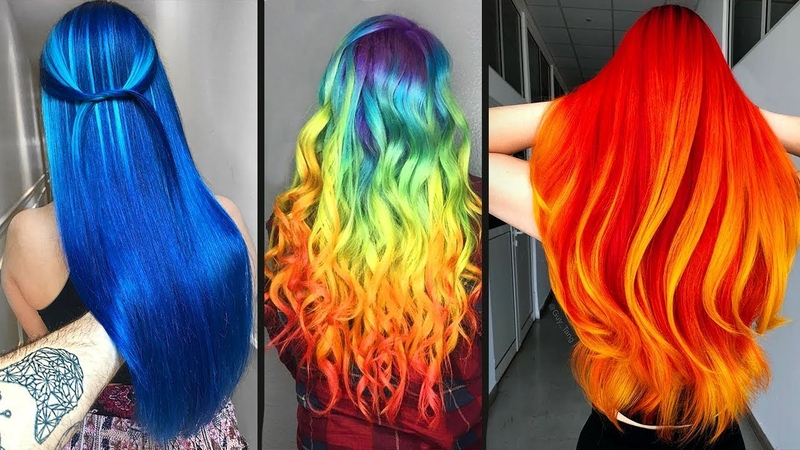 Top 10 Amazing Hair Color Transformation For Long Hair!Rainbow Hairstyle Tutorials Compilations