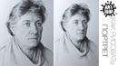 Штриховка по форме Портрета Карандашом / Как нарисовать Портрет