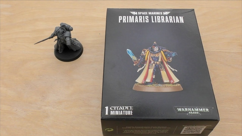 Space Marine Primaris Librarian - Unboxing Review (WH40K)
