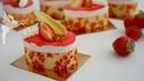 Törtchen Rhababer Erdbeer Mousse Desserts mit Dekor Kuchenfee