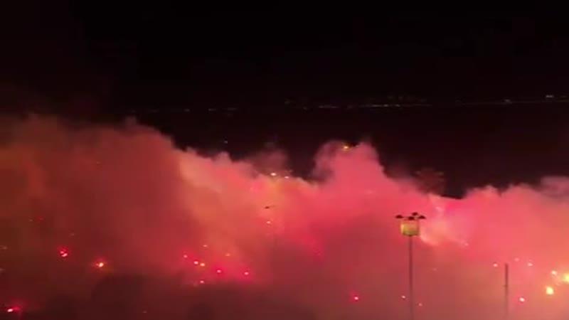Фанаты турецкого Гезтепе мощно отметили 94 х летие своего клуба
