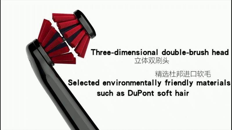 Amazing smart stereoscopic dual brush toothbrush head ZEEAL Z