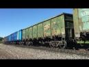 2ТЭ25КМ 0013 с грузовым поездом на станции Волово