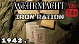 Wehrmacht rations Eiserne Portion 1942. German Iron Ration ENG SUBS