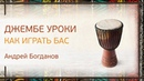 Джембе уроки Как играть бас Андрей Богданов