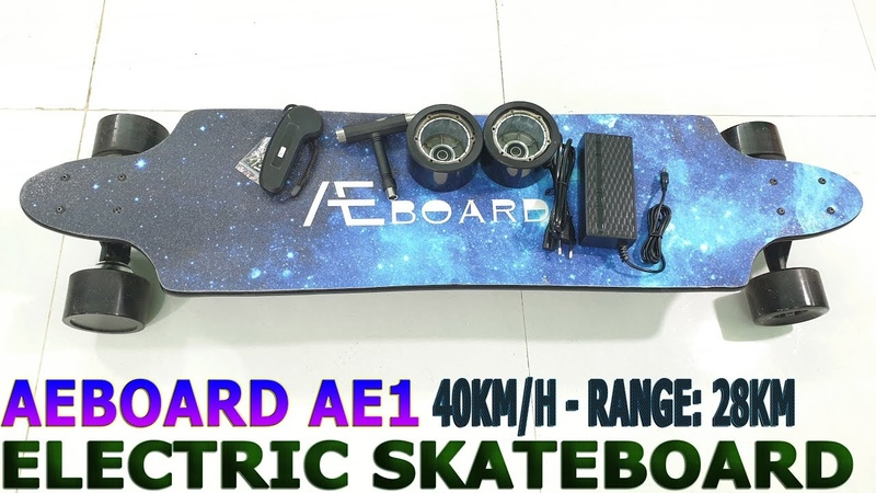 40Kmh AEBOARD AE1 Unboxing Review - Best Electric Skateboard With 10S 3P Battery