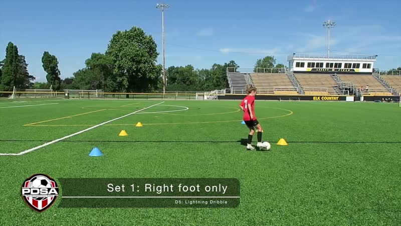 Improve your change of direction when dribbling with the Lightning Dribble drill
