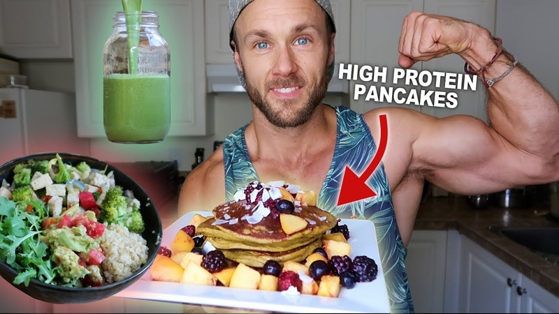 MAKING VEGAN GAINS | WHAT I EAT IN A DAY (WITH RECIPES)