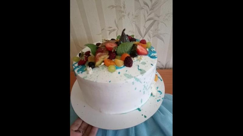 Тортик от близких на День рождения папы.mp4