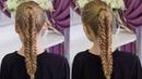 Коса Рыбий Хвост на длинные волосы Twisted Edge Fishtail Braid, Hair Tutorial