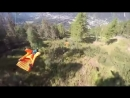 Low wingsuit flying hard party