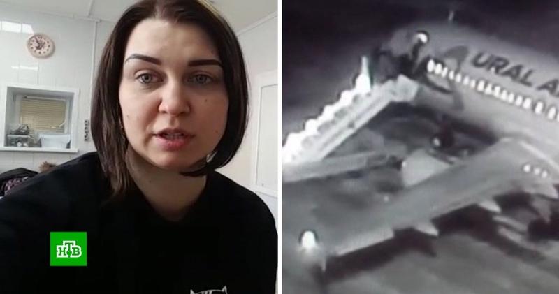 Очевидцы рассказали о ЧП с трапом в аэропорту Барнаула