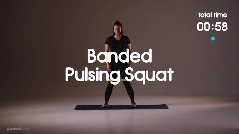 Group HIIT Resistance Band Workout for Glutes Тренировка для ягодиц с фитнес резинкой