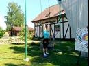 Анюта в летнем спортивном лагере.