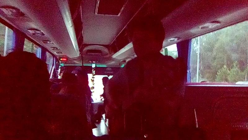 Поющий автобус, преисполненный молодых литераторов