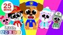 Five Little Puppies Peekaboo | Finger Family, Humpty Dumpty More Kids Songs by Little Angel