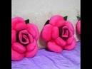 طريقة عمل وسادة على شكل وردة جميلة جدا