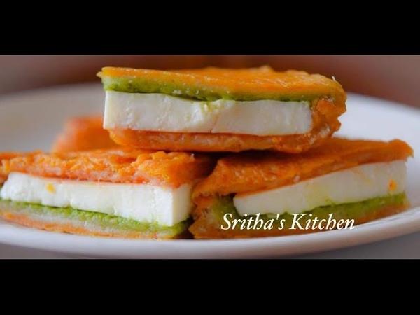 Bread Paneer Sandwich Pakoda | Bread Paneer Pakora | Stuffed Bread Pakora | Snack - Sritha's Kitchen