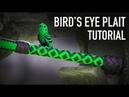 Bird's Eye Plait Bullwhip Handle Nick's Whip Shop