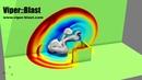 Viper blast blast wall real time simulation