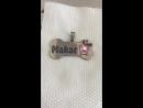Гравировка адресника для замечательного самоеда по кличке Makar