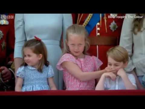 Trooping the Colour 2018 | Саванна Филлипс говорит маленькому принцу Джорджу прекратить свою болтовню на балконе