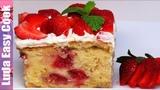 Самый КЛУБНИЧНЫЙ Пирог ТРИ МОЛОКА! Очень нежный и влажный! STRAWBERRY 3 MILK CAKE