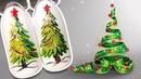 🎄 Новогодняя Ёлка 🎄 Пошаговый МК / Новогодний Дизайн Ногтей Гель-лаком для Праздничного Маникюра