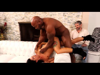 Tiny slutwife gina valentina get bbc in front of husband [brunette, small tits, high heels, cuckold, cheating, hardcore]