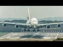 STORM Diana AIRBUS A380 CROSSWIND sliding after LANDING STAR WARS Boeing 787 4K
