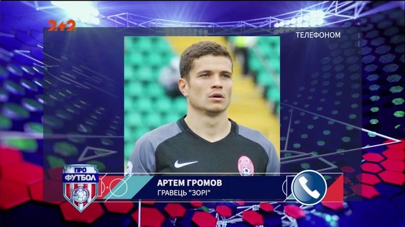 """Радий що тренер довірив місце в основі """" Громов поділився емоціями від гри проти колишнього клубу"""