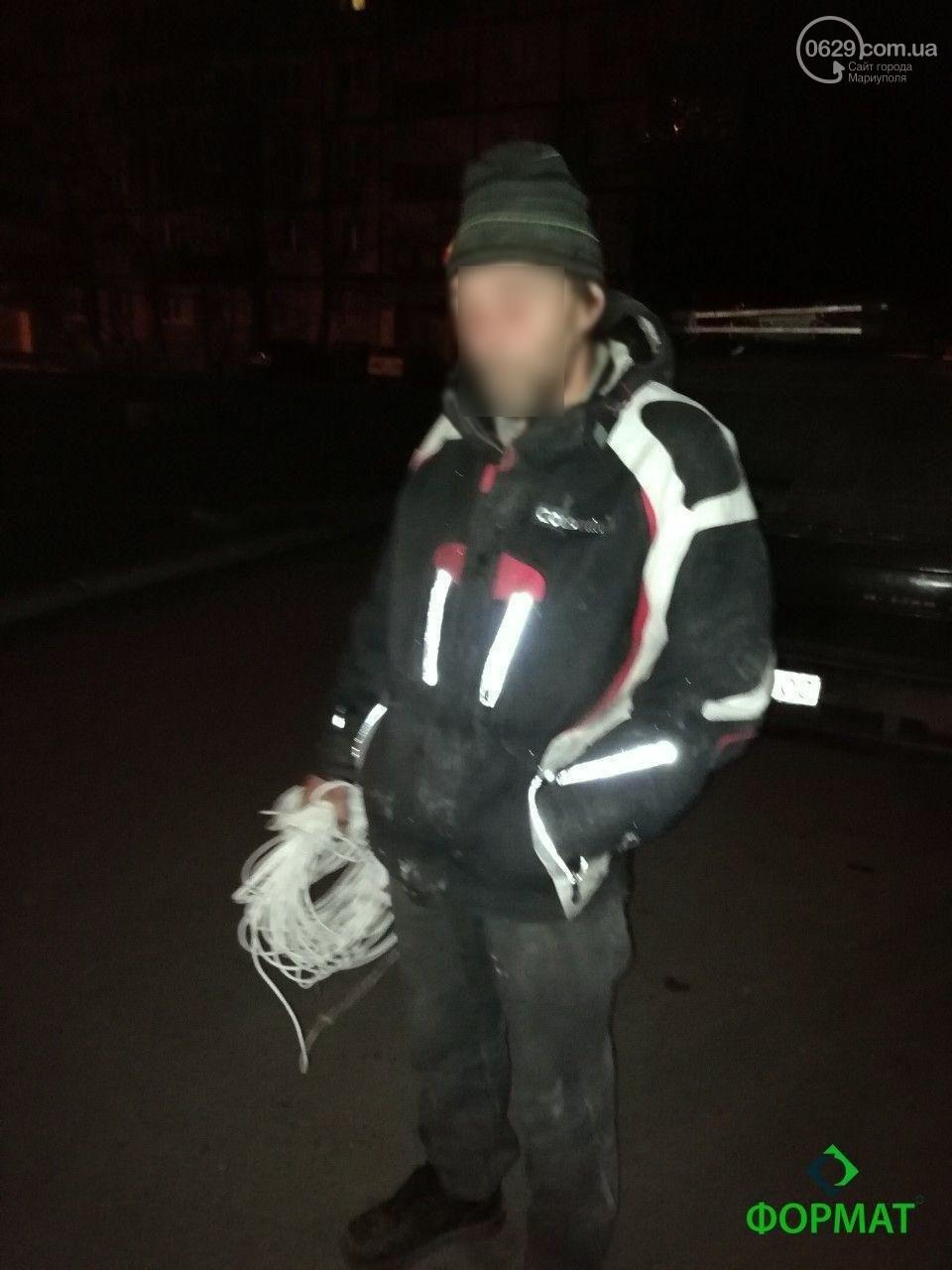 В Мариуполе словили мужчину, подозреваемого в краже кабеля (фото)