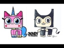Unikitty Characters as Bendy and the Ink Machine