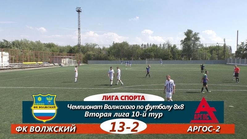 Вторая лига. 10-й тур. ФК ВОЛЖСКИЙ - АРГОС-2 13-2 ОБЗОР