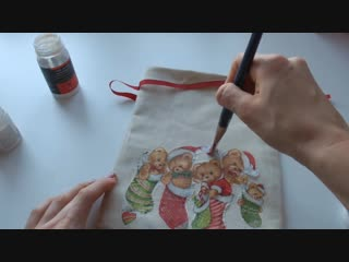 Новогодний мешочек для подарка своими руками_новогодняя упаковка_DIY