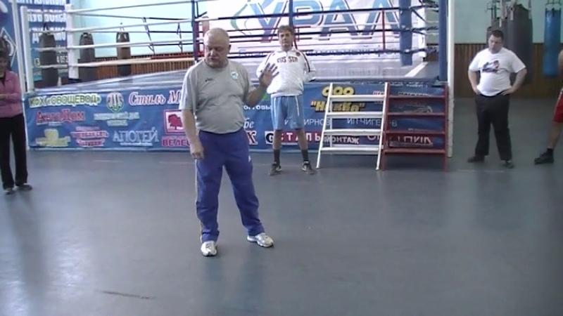 Акцентированный удар правой рукой в боксе на рубеже 40-х и 50-х годов.